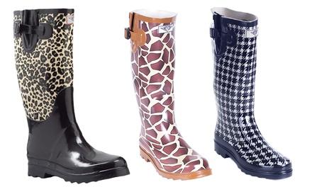 Women's Print Rain Boots