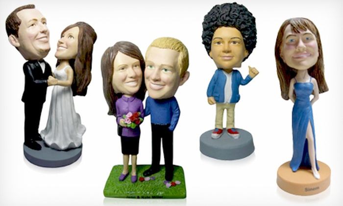 AllBobbleHeads.com: Custom Bobblehead or Bobblehead Couple from AllBobbleheads.com (Up to 46% Off)