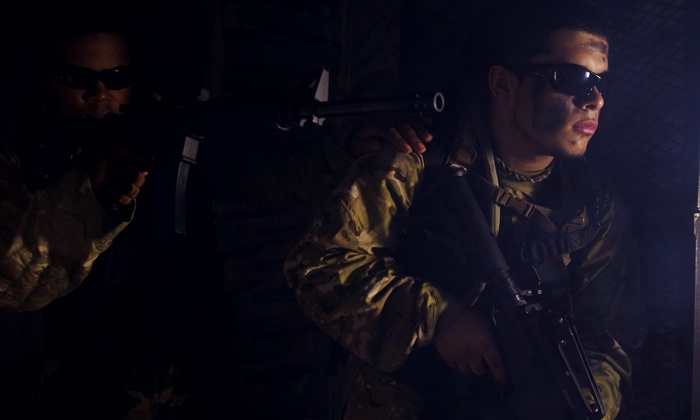 Frontline Action - Multiple Locations: One or Two Hours ofirTacticalLaser Tag for Four at Frontline Action (Up to 50% Off)