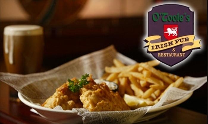 O'Toole's Irish Pub - Brandon: $12 for $25 Worth of Irish Fare and Drinks at O'Toole's Irish Pub