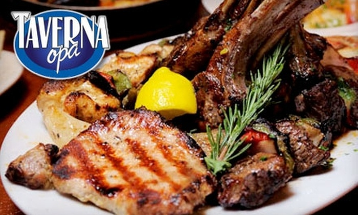 Taverna Opa - Downtown West Palm Beach: $15 for $30 Worth of Greek Fare and Drinks at Taverna Opa