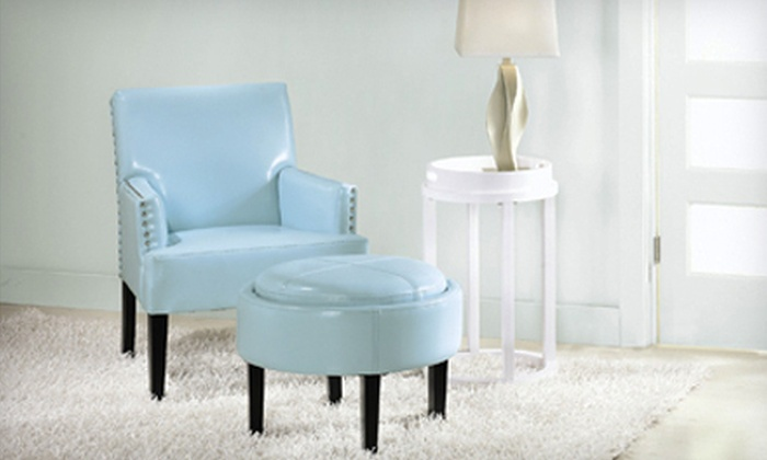 Home Decorators Collection: $129 for a Leather Cooper Storage Ottoman in Aqua, Cream, or Pumpkin. Shipping Included ($224 Total Value).