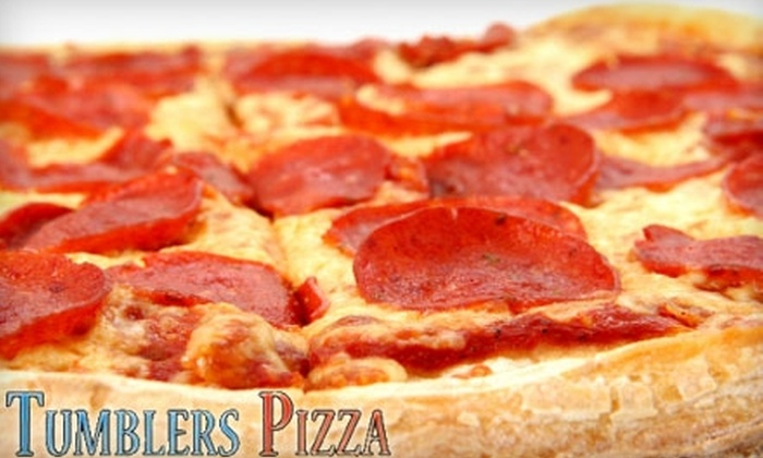 Tumblers Pizza - Whitmore Park: $10 for $20 Worth of Pizza Pies and More at Tumblers Pizza