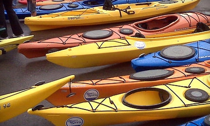 River Sports Outfitters - Multiple Locations: $19 for Two All-Day Rock-Climbing Passes or Two Half-Day Kayak Rentals from River Sports Outfitters (Up to $50 Value)