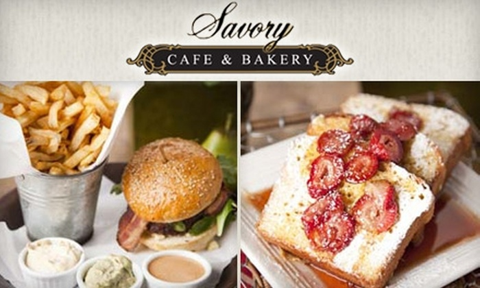 Savory Cafe & Bakery - San Buenaventura (Ventura): $12 for $25 Worth of Fresh Cafe Fare and Baked Goods at Savory Cafe & Bakery