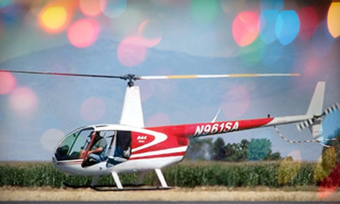 Silverhawk Aviation Academy - Caldwell: $99 for a Christmas Lights Helicopter Tour of Boise for Three from Silverhawk Aviation Academy ($170 Value)