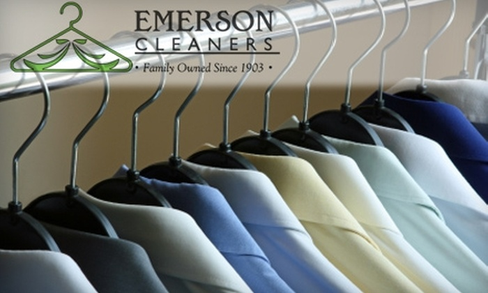 Emerson Cleaners - Emerson: $15 for $30 Worth of Green Dry Cleaning Services at Emerson Cleaners