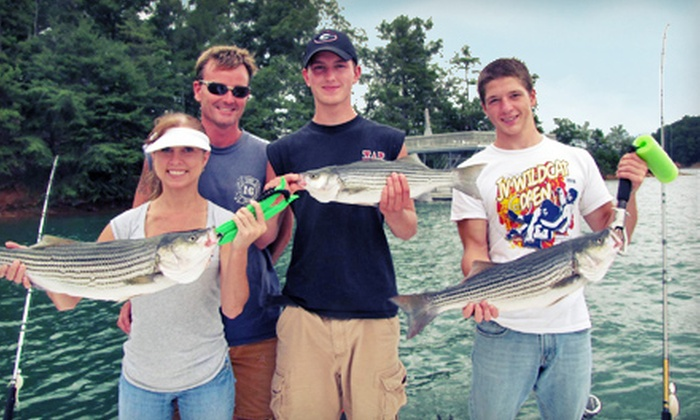 Trophies of Lanier Fishing Guide Service - Atlanta: Five-Hour Guided Striped Bass Fishing Trip for Two or Four from Trophies of Lanier Fishing Guide Service (57% Off)