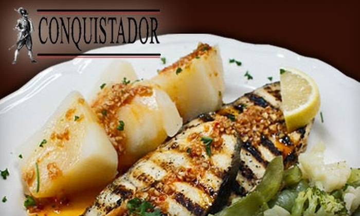 Conquistador Restaurant - Centremount: $15 for $30 Worth of Portuguese Fare and Drinks ($35 Worth if Redeemed on Tuesday or Wednesday) at Conquistador Restaurant