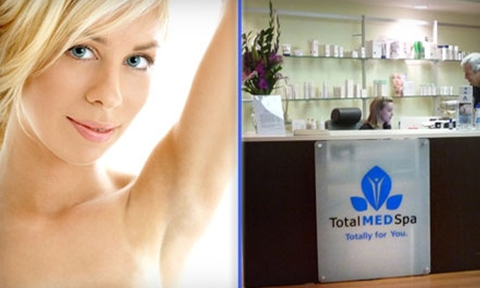 TotalMed Spa - Multiple Locations: $139 for Four Laser Hair Removal Treatments at TotalMed Spa (Up to $465 Value)