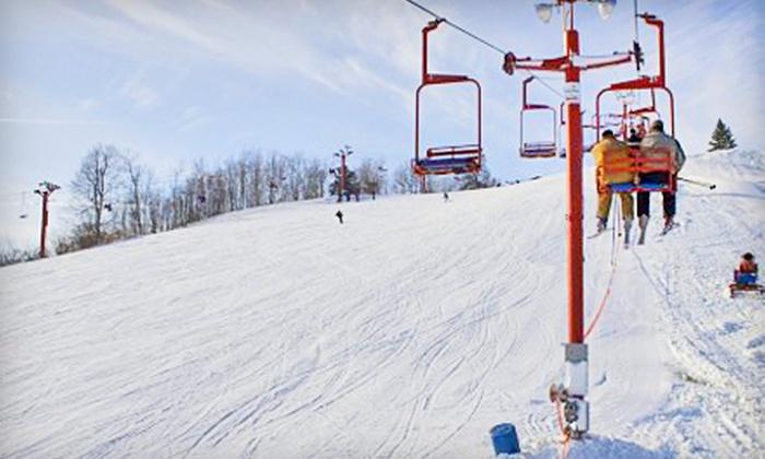 Sunburst Ski Area - Kewaskum: Skiing, Snowboarding, or Tubing Outings for Two at Sunburst Ski Area in Kewaskum (Up to 53% Off)