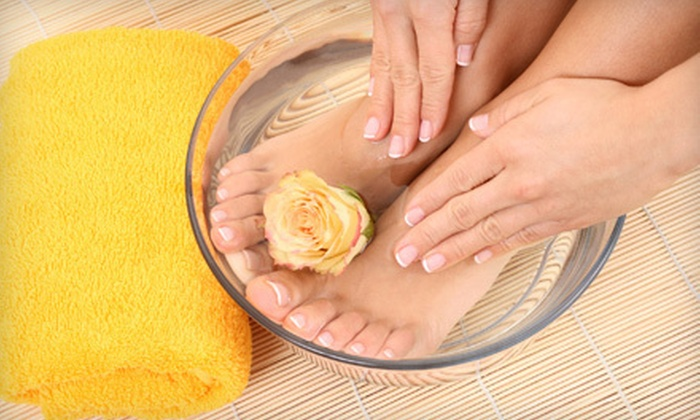 May Salon - North Broadway,Portage Bay,Eastlake: $29 for Mani-Pedi with Hand and Foot Paraffin Treatments at May Salon ($62 Value)
