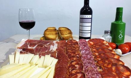 Degustación de ibéricos y quesos con botella de vino por 24,95 € en La Quesería Nº 20