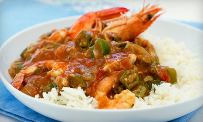 Bleu Crawfish @ 219 - Central Business District: $7 for $14 Worth of Cajun Dinner Fare at Bleu Crawfish @ 219