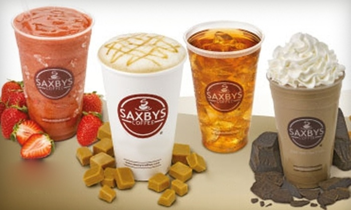 Saxbys Coffee - Multiple Locations: $10 for a $20 Gift Card to Saxbys. Choose from Two Locations.