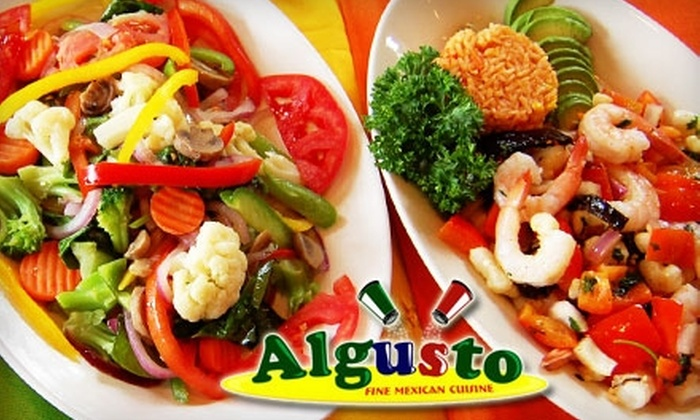 Algusto Mexican Restaurant - Historic Hyde Park North: $12 for $25 Worth of Authentic Mexican Fare and Drinks at Algusto Mexican Restaurant
