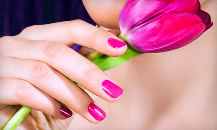 Pretty in Pink Studio - Westdale South: $35 for a Shellac Gel Manicure and Spa Pedicure at Pretty In Pink Studio in Hamilton ($75.71 Value)