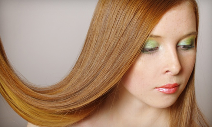 Original Shears - Folsom: Hairstyling Package with Cut and Aveda Treatment or Keratin Straightening Treatment at Original Shears in Folsom