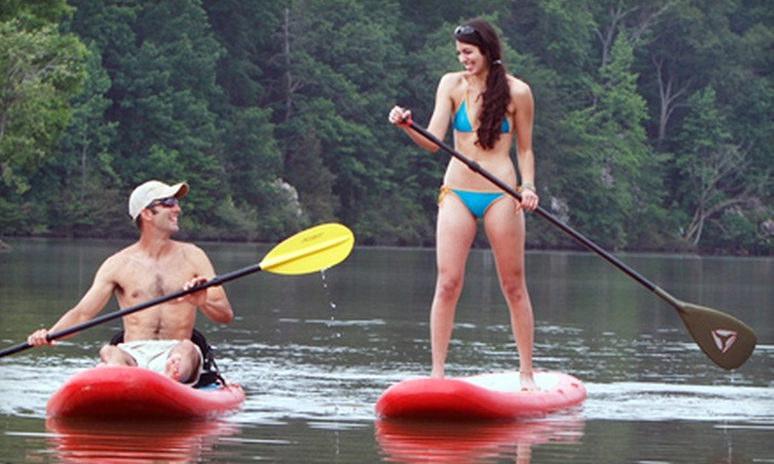 Stride Stand Up Paddleboards - Multiple Locations: Two-Hour Paddleboard-Yoga Lesson or a Two-Hour Guided Paddleboard Adventure Course from Stride Stand Up Paddleboards