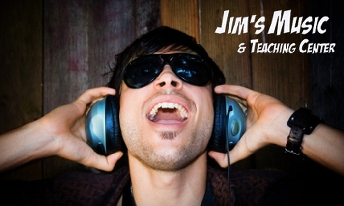 Jim's Music - Green Bay: $20 for Two Guitar, Piano, or Voice Lessons at Jim's Music (Up to $60 Value)