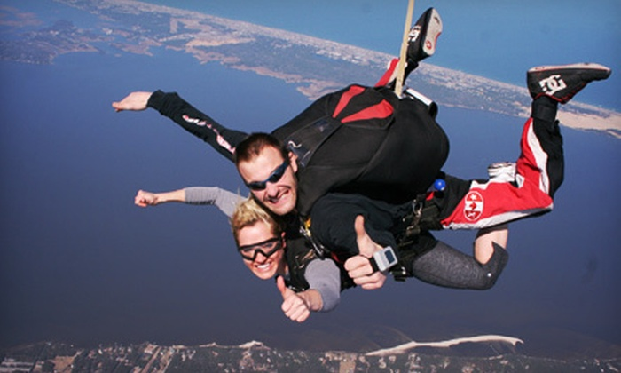 Skydive OBX - Colington Harbour: $149 for a Tandem Skydive Jump at Skydive OBX in Manteo (Up to $249 Value)