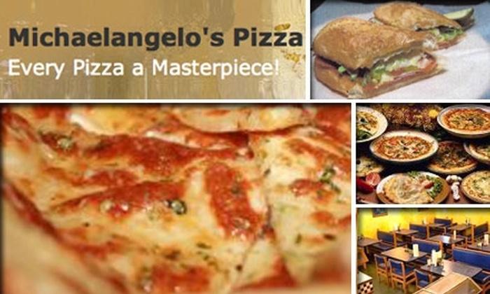 Michaelangelo's Pizza - Nashville-Davidson metropolitan government (balance): $10 for $25 Worth of Hand-Tossed Pizza and More at Michaelangelo's Pizza