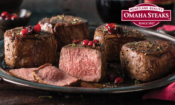 gourmet gift or holiday packages from omaha steaks up to 76 off five options available