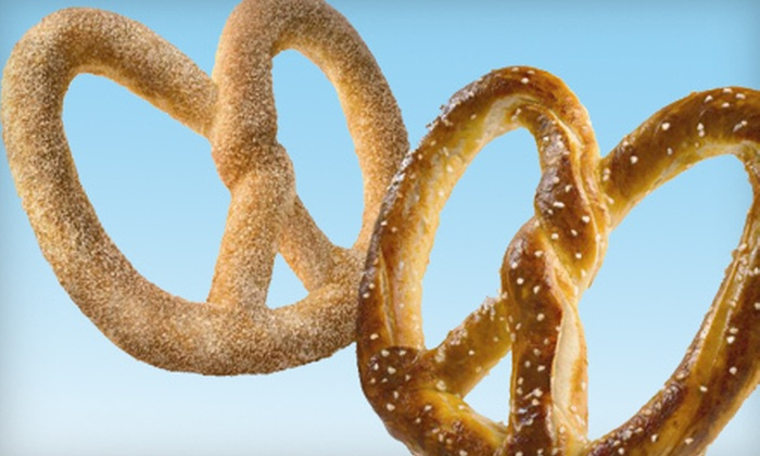Auntie Anne's  - Multiple Locations: $6 for Four Soft Pretzels at Auntie Anne's (Up to $15.16 Value)