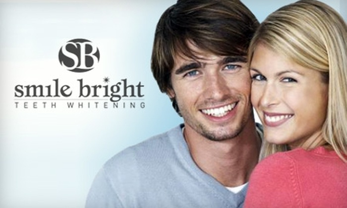 Smile Bright Teeth Whitening - Multiple Locations: $59 for an In-Office Teeth Whitening ($249 Value) or $38 for a Professional Home Teeth-Whitening Kit ($99 Value) at Smile Bright Teeth Whitening