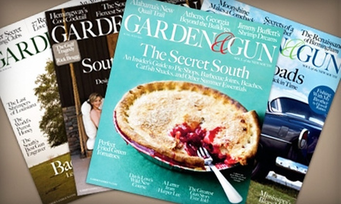"""Garden & Gun"" Magazine - Piedmont Triad: $10 for a One-Year Subscription (Six Issues) to ""Garden & Gun"" Magazine ($19.97 Value)"