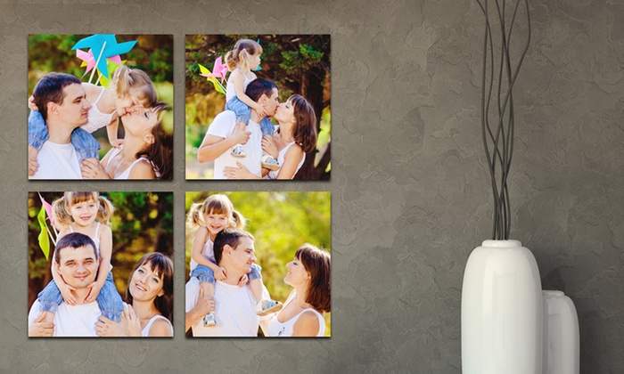 "Picture It On Canvas: Four 5""x5"", 6""x6"", or 8""x8"" Custom Prints on Metal from Picture It On Canvas (Up to 86% Off)"
