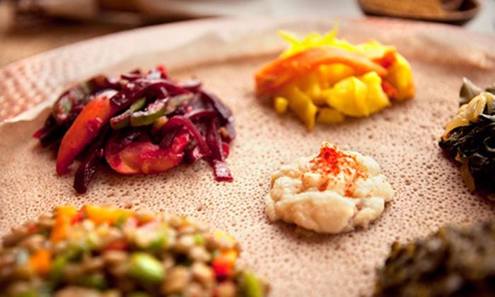 Karamara Ethiopian Restaurant - Arlington Heights: Ethiopian Food for Two or Four at Karamara Ethiopian Restaurant (Half Off). Two Options Available.