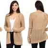 Women's Knitted Crocheted Open Cardigan