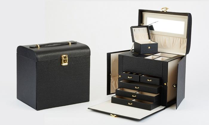 schmuckkoffer mit vielen f chern groupon goods. Black Bedroom Furniture Sets. Home Design Ideas