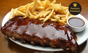 Bar Ideal: Bar Ideal – Funcionários: ribs barbecue ou combo mineiro ou americano + caipivodca para 2 pessoas