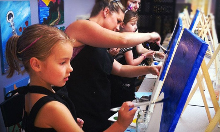 Palettes and Pairings - Issaquah: Family Paint Day for One, Two, or Four or a Child's Party for Up to 10 at Palettes and Pairings (Up to 51% Off)