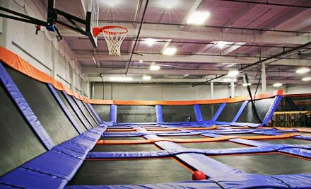 Trampoline Sessions or Weekend Events at SkyMania! Trampolines in Kirkland (Up to 55% Off). Four Options Available.