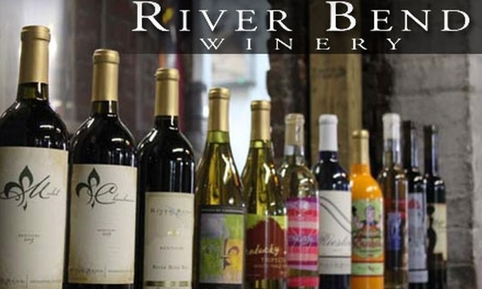 River Bend Winery - Central Business District: $20 for Two Bottles of Wine and a Tasting for You and a Friend at River Bend Winery (Up to $50 Value)
