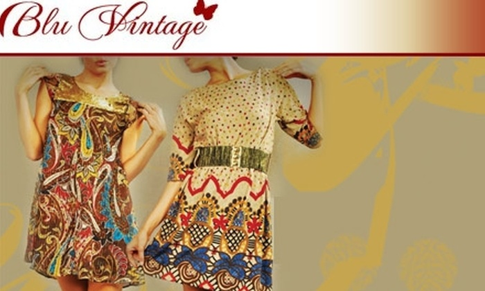 Blu Vintage Boutique - Mount Vernon: $25 for $60 Worth of Funky, Flirty Clothes and Accessories at Blu Vintage Boutique