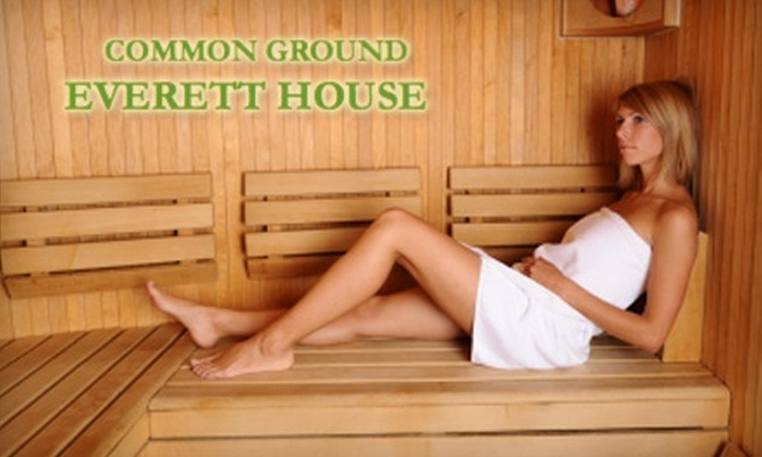 Common Ground Everett House - Kerns: $59 for a 30-Minute Flotation Session, 60-Minute Steam and Sauna, Chiropractic Session, and 30-minute Massage at Common Ground Everett House ($334 Value)