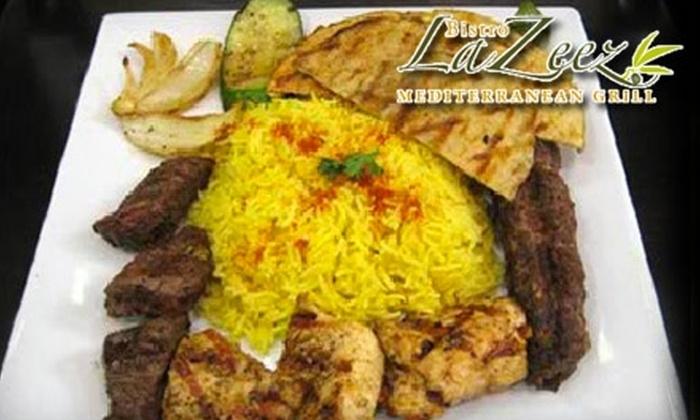 Bistro LaZeez - Bethesda: $12 for $25 Worth of Mediterranean Cuisine and Drinks at Bistro LaZeez in Bethesda