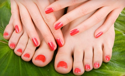 No-Chip Manicure and a Stylish Ten Pedicure (a $65 value) - Stylish ten in Highwood