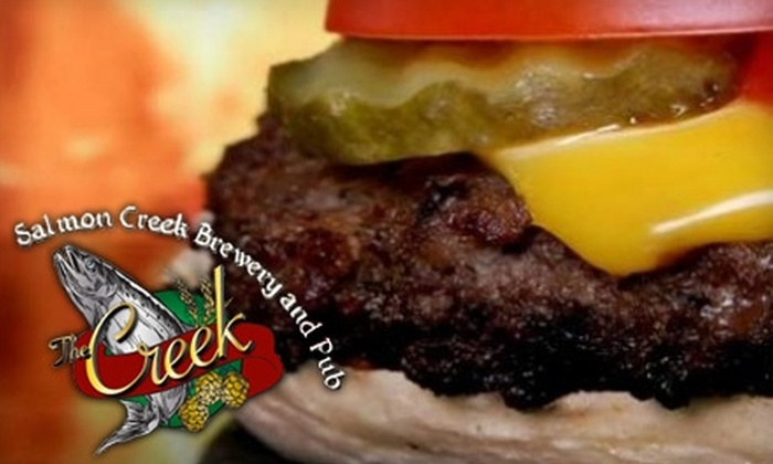 Salmon Creek Brewery & Pub - Esther Short: $15 for $30 Worth of Pub Fare and Drinks at Salmon Creek Brewery & Pub in Vancouver