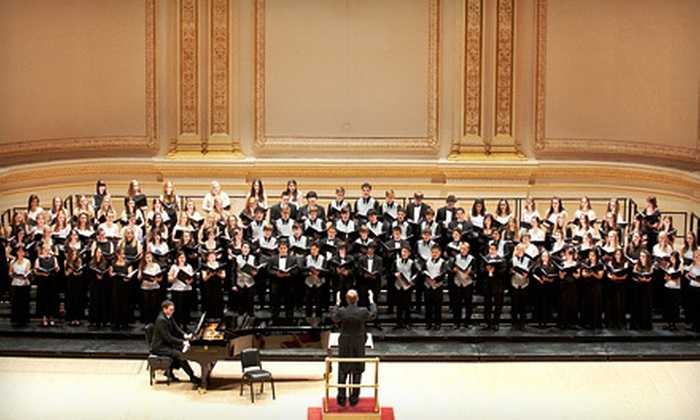 Mount San Antonio College Choir, New York City Chamber Orchestra, and National Two-Year College Festival Chorus - Clinton: Mount San Antonio College Choir, New York City Chamber Orchestra, and National Two-Year College Festival Chorus Concert at Carnegie Hall on May 5 (Half Off). Four Options Available.