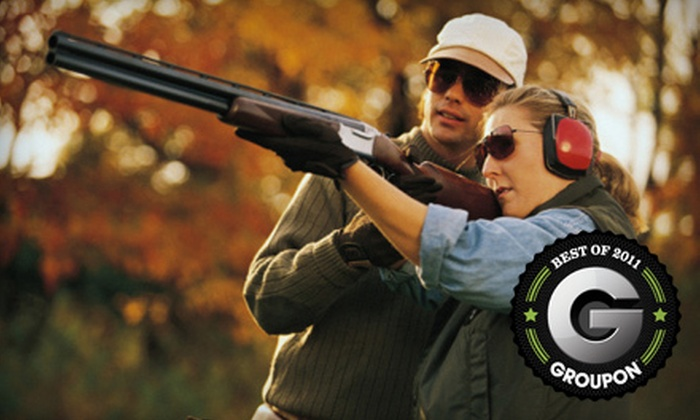 Benton Sporting Clays - 2: Clay Target Shooting or a One-Year Range Membership to Benton Sporting Clays in Charleston (Half Off)