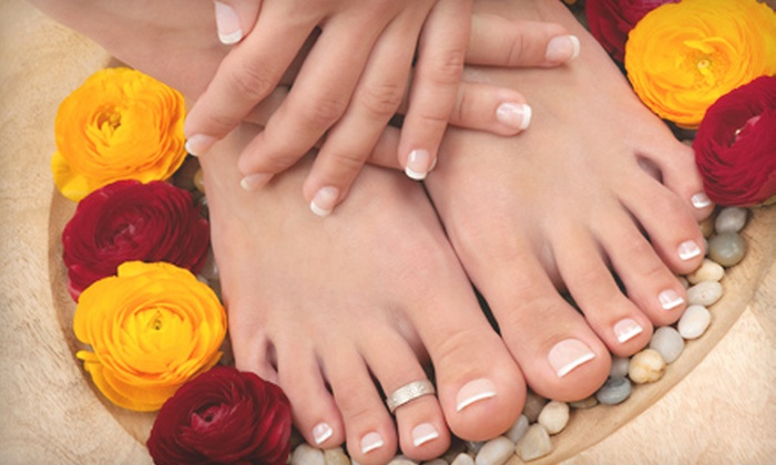 Extension King Hair Salon - Flamingo / Lummus: Shellac Manicure and Regular Pedicure or Shellac Mani-Pedi at Extension King Hair Salon in Miami Beach (Up to 56% Off)