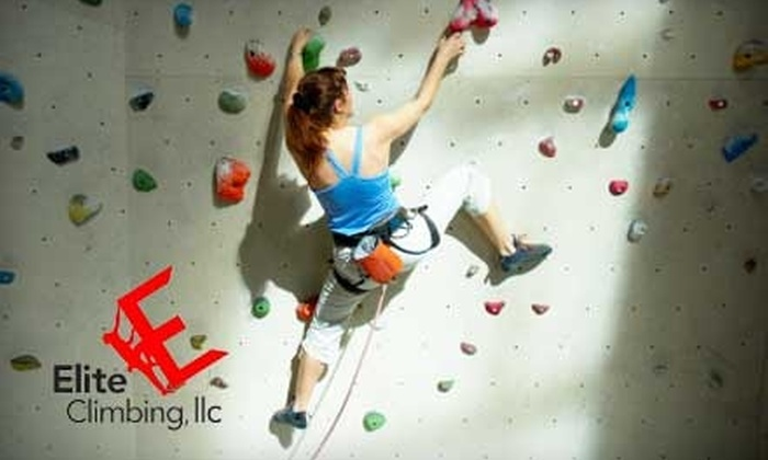 Elite Climbing - Maple Shade: $35 for a Beginner Climbing Package for Two at Elite Climbing in Maple Shade