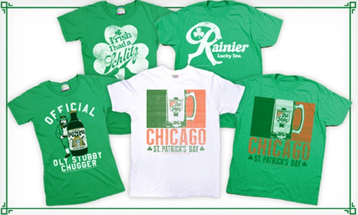 PalmerCash: $15 for a Men's or Women's St. Patrick's Day T-shirt from Palmer Cash ($34.92 Value), Shipping Included