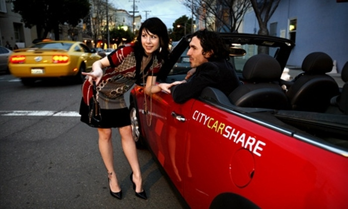 City CarShare: $30 for a Six-Month Membership Including Application Fee and a $30 Driving Credit to City CarShare ($120 Value)
