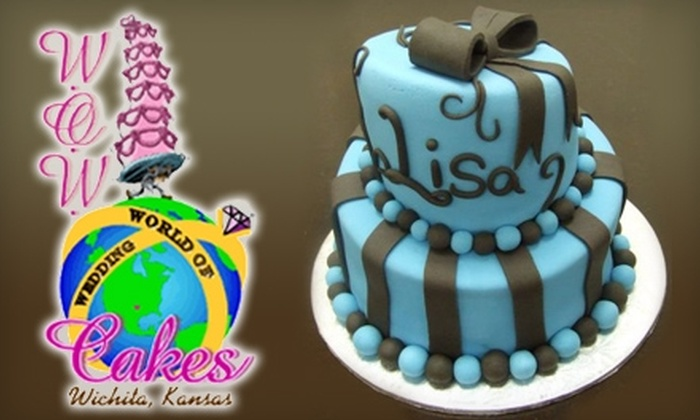 "W.O.W. Cakes - Benjamin Hills: $30 for a 2-Tier Cake (6"" & 8"" Double Layer Round) from W.O.W. Cakes"